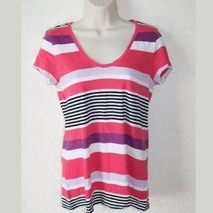Loft Striped T-Shirt Multicolor Sz S